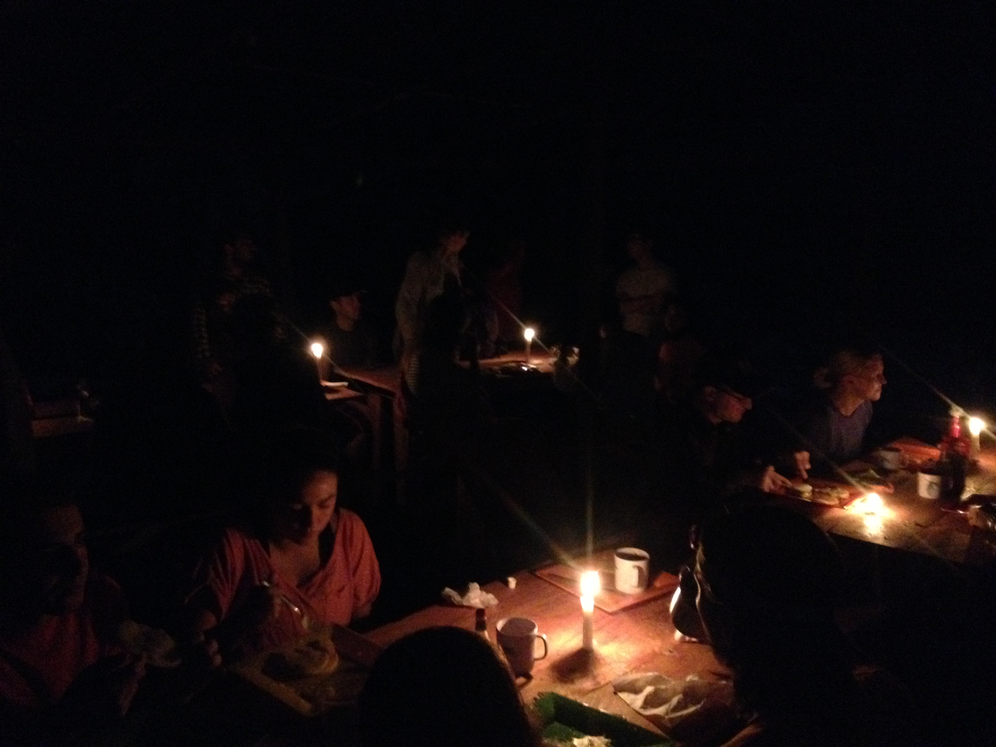 The morning before hiking to Ciudad Perdida, we ate breakfast in the dark - early.