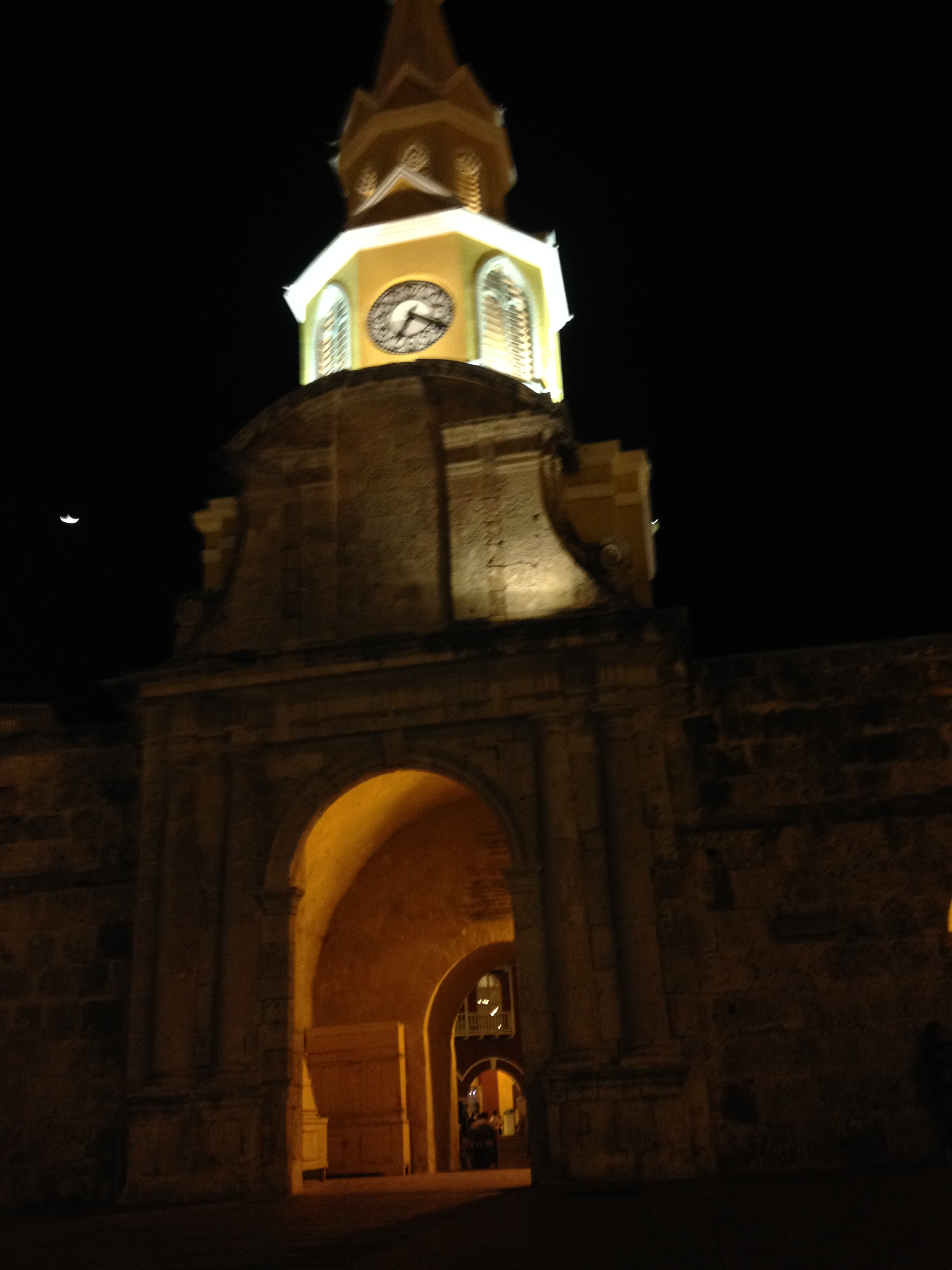 The iconic clock tower of Cartagena.