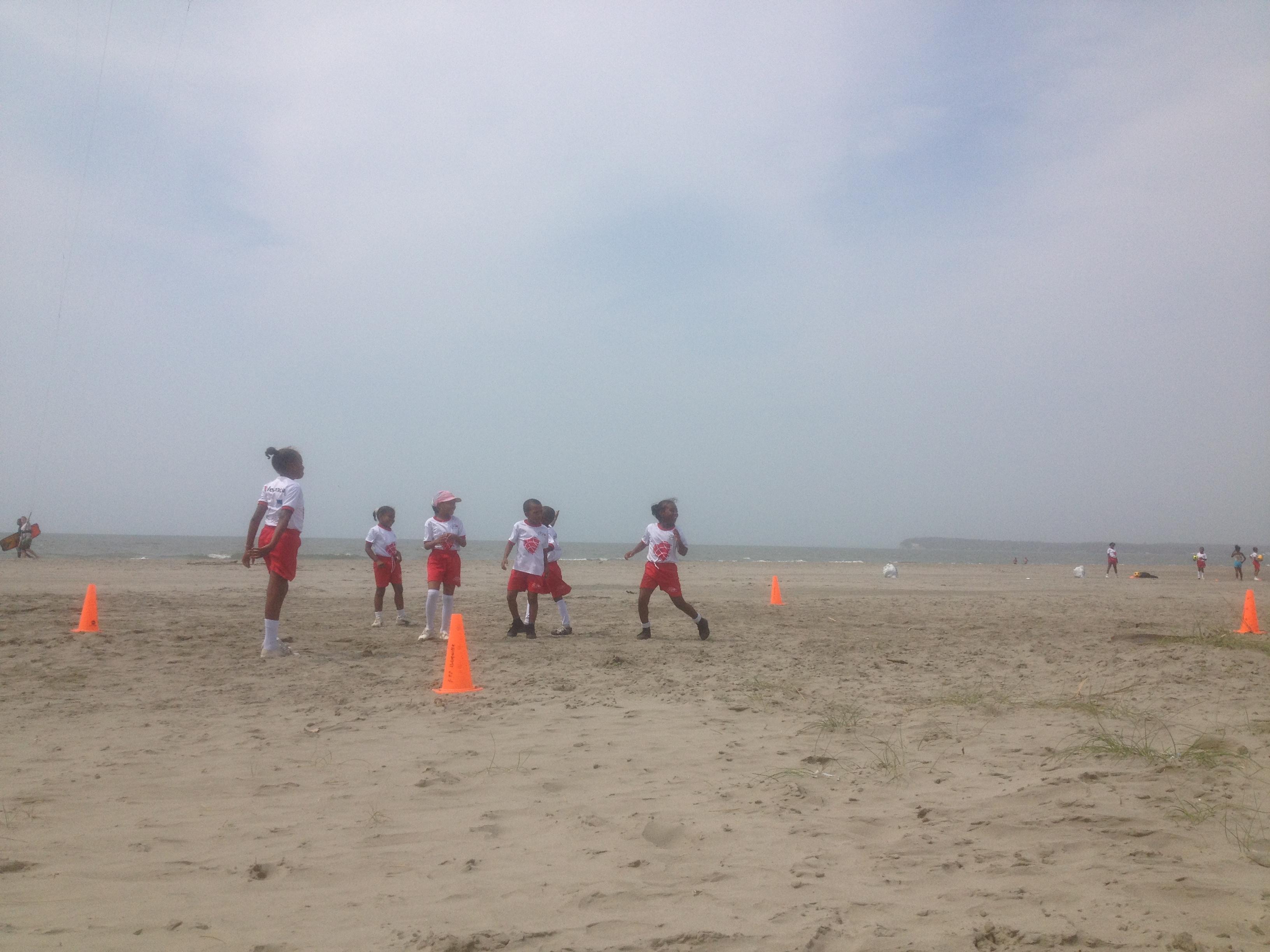 Dodgeball on the beach
