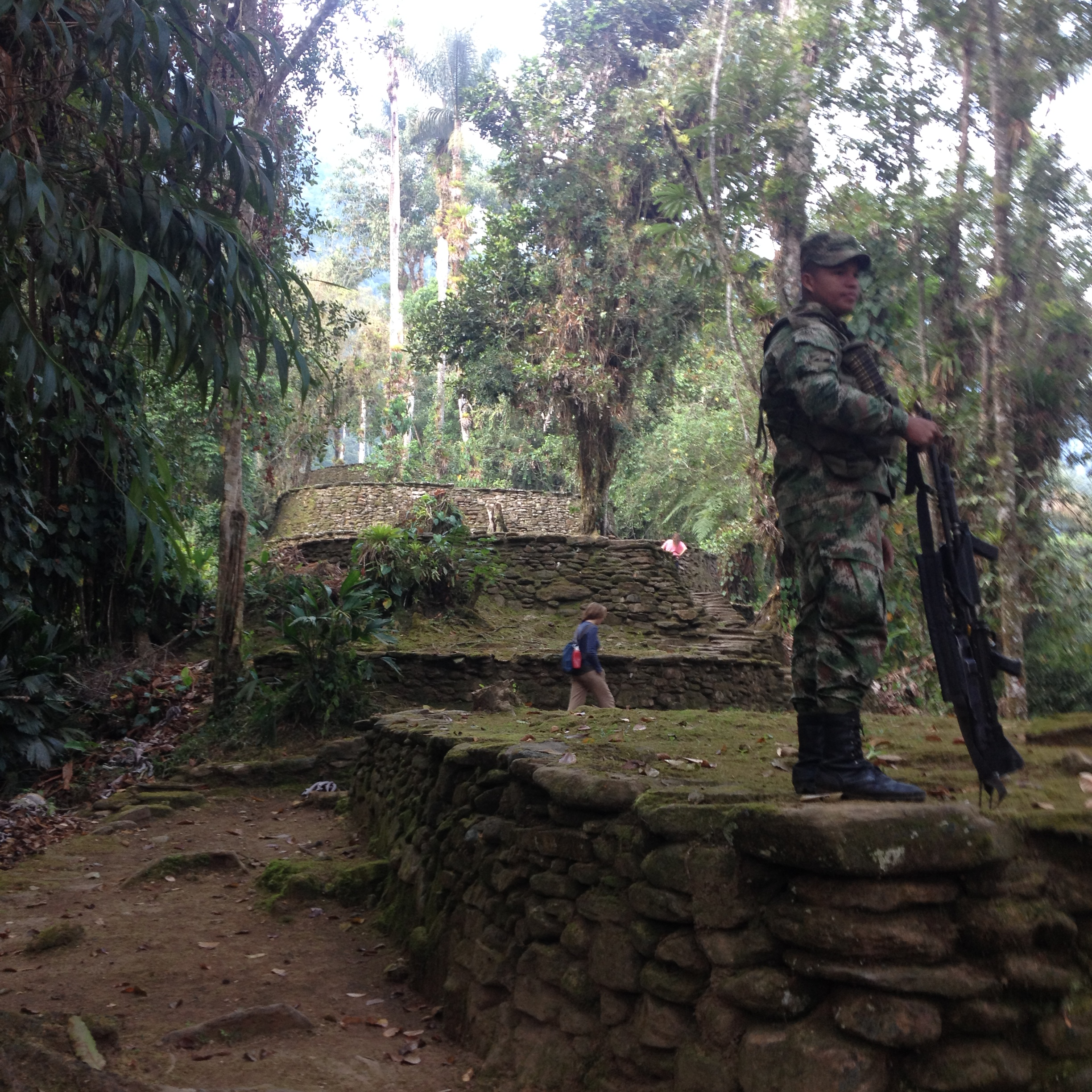 Military guard the Lost City