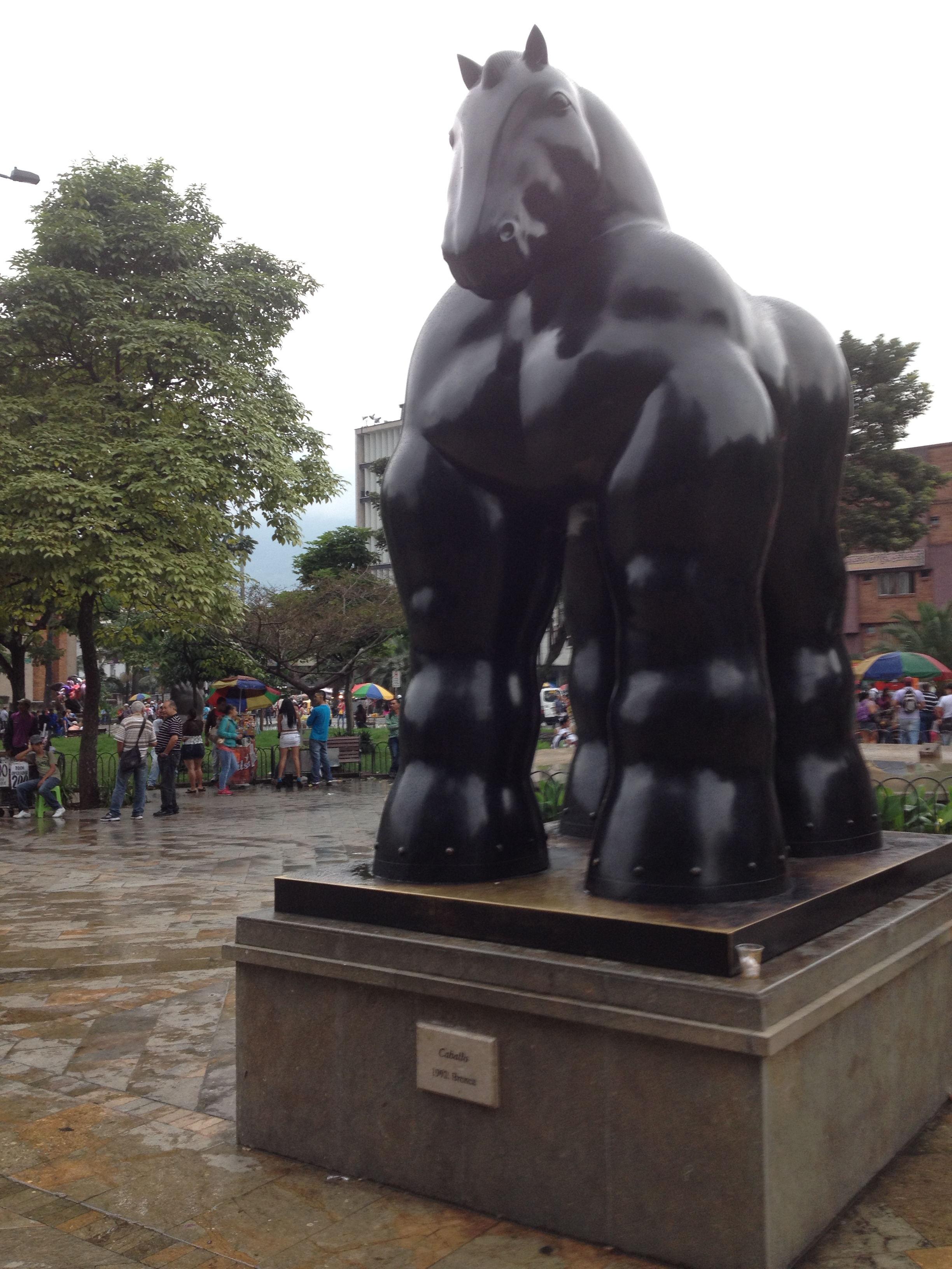 Botero horse statue.