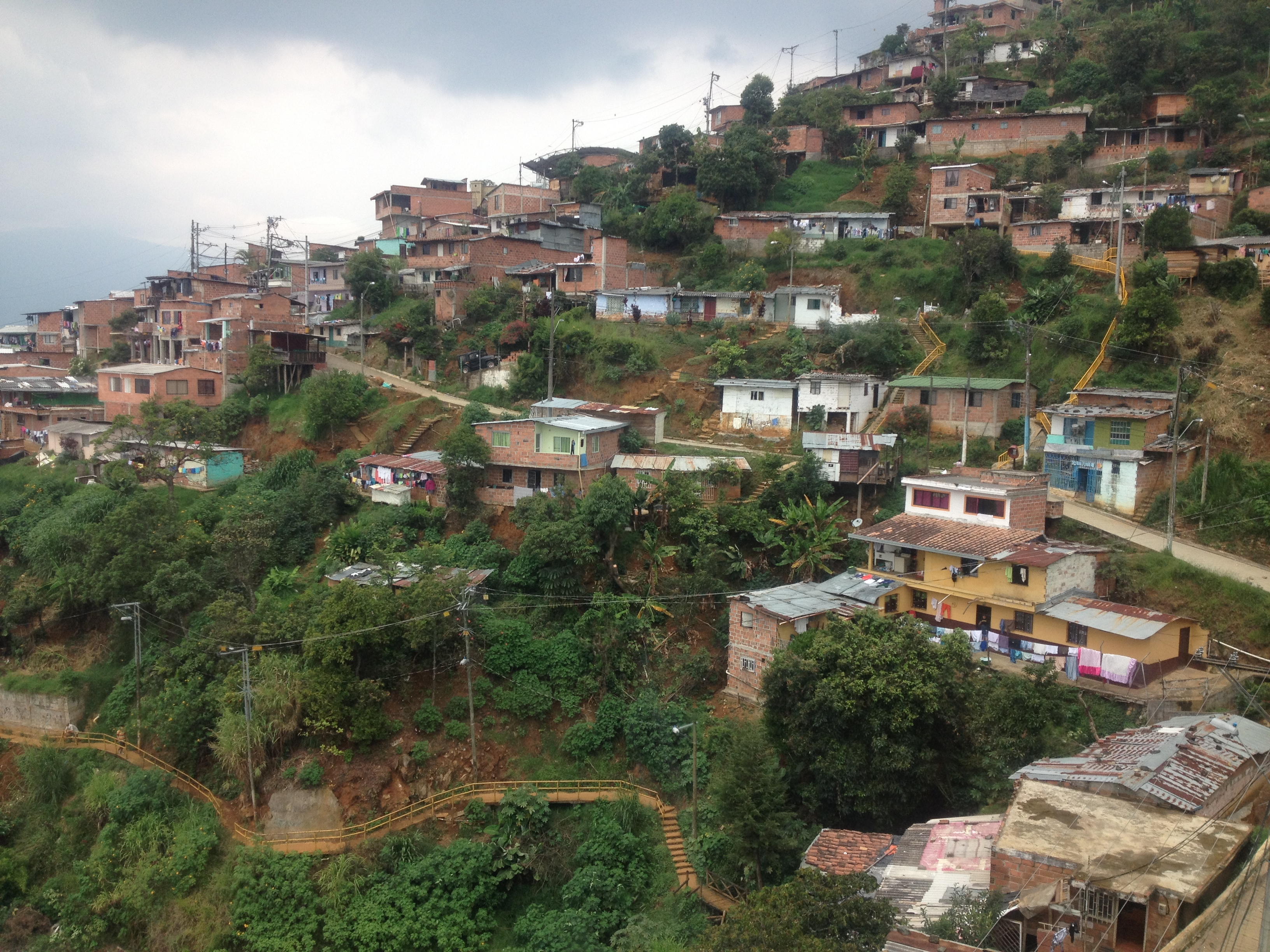 The hills are steep, but people still cram the hillside with homes.