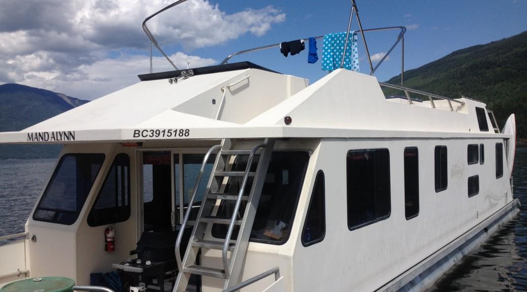 Houseboat close up outside