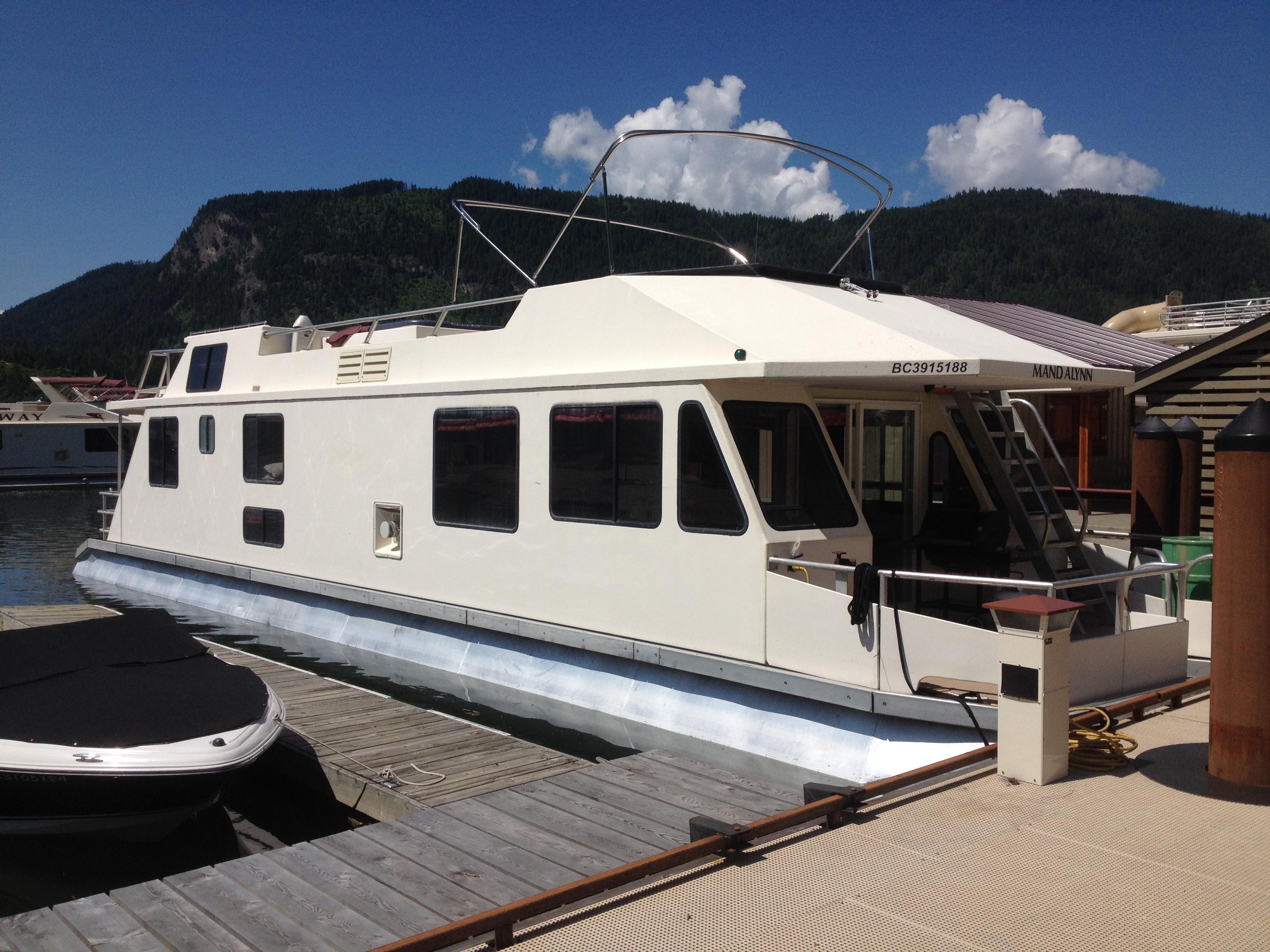 Houseboat on dock
